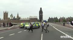 Conmoción en Londres: varios heridos al estrellarse un auto contra el Parlamento
