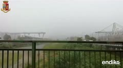 Vea el momento del gran derrumbe de un puente en una autopista italiana