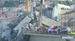 Rabia y dolor en Italia por el derrumbe del puente en Génova