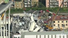 Decretan un estado de emergencia en Génova por 12 meses