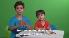 El huracán bajo la mirada de los niños
