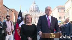 El papa expulsa a dos obispos chilenos tras visita de Piñera