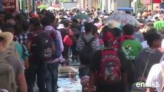 Más de 7,000 migrantes van en caravana hacia Estados Unidos