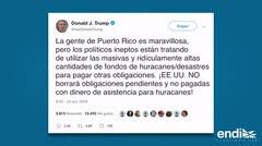 """Donald Trump llama """"ineptos"""" a los políticos de Puerto Rico"""
