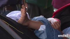 Los niños: la cara más dura de la caravana de migrantes