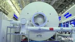 China presentó su primera gran estación espacial
