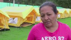Migrantes venezolanos son reubicados en Bogotá entre protestas