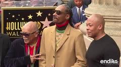 El rapero Snoop Dogg ya tiene su estrella en el Paseo de la Fama
