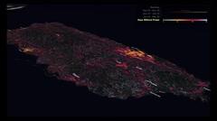 La NASA muestra cómo lucía Puerto Rico sin electricidad tras el paso del huracán María