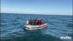 El mal tiempo no frena a los migrantes en estrecho de Gibraltar