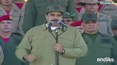 Maduro advierte a presidente colombiano durante acto militar
