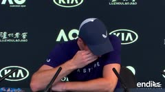 Andy Murray rompe a llorar en una conferencia al anunciar su retiro