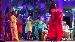 Tata Cepeda y su grupo llevaron el sonido de la bomba a las Fiestas de la Calle San Sebastián