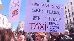 Huelga indefinida de taxis en Madrid