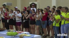 En Panamá para ver al papa, peregrinos duermen en sinagoga