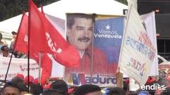 Los chavistas también salieron a las calles a defender a Maduro