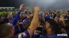 Magistral celebración de los Cangrejeros ante su gran victoria