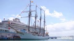 Impresiona el buque de España que ancló en el Viejo San Juan