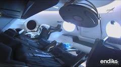 La cápsula de SpaceX 'Crew Dragon' llega con éxito a la Estación Espacial Internacional