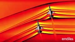 La NASA capta la interacción de ondas de dos aviones supersónicos