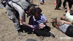 Militares realizan un simulacro de catástrofe en Puerto Rico