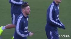 Messi regresa a los entrenamientos con Argentina