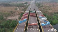 Venezuela refuerza el bloqueo del puente fronterizo con Colombia