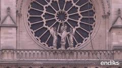 """Macron quiere reconstruir Notre Dame """"en cinco años"""""""