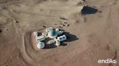Recrean al planeta Marte en un desierto impresionante