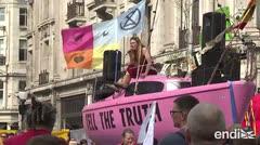 """Continúan las protestas """"ecológicas"""" en Londres"""