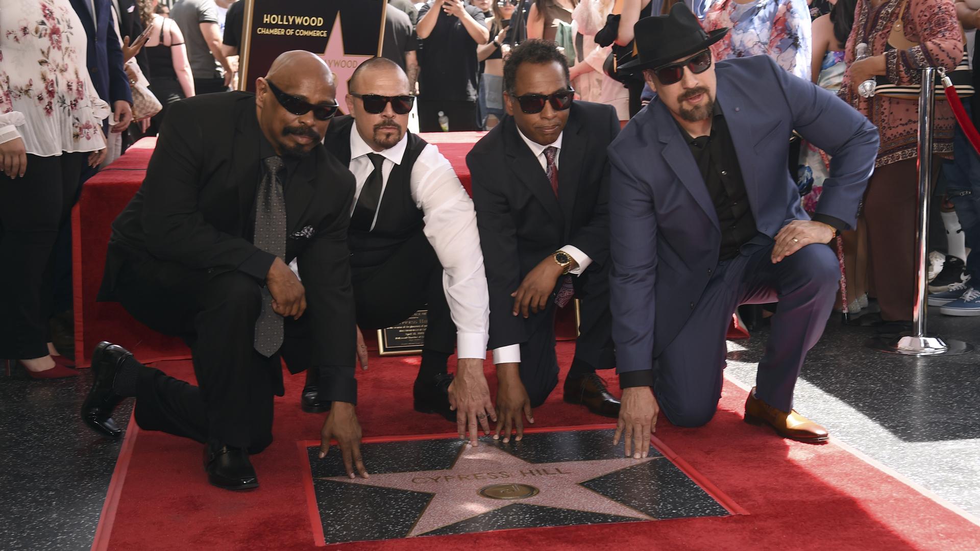 Celebran el legado de Cypress Hill con una estrella en Hollywood