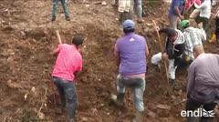 Intensas lluvias provocan un deslave en Colombia
