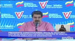 Maduro promete reforzar protección de embajada venezolana en Estados Unidos