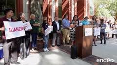 Protestan las organizaciones comunitarias puertorriqueñas frente al Condado de Osceola