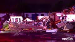Gran devastación tras los nuevos tornados que azotaron Oklahoma