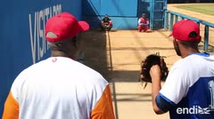 Peloteros cubanos regresan a jugar en su patria