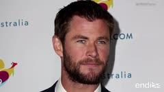 Chris Hemsworth se disfrazó para ir al cine