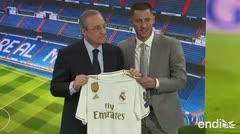 """Hazard con Real Madrid: """"quiero jugar con esta camiseta y ganar trofeos"""""""