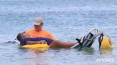 Sueño realizado: paciente de distrofia muscular disfruta del mar luego de 20 años