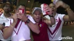 Brasileños y venezolanos celebran el pase a cuartos de final de la Copa América