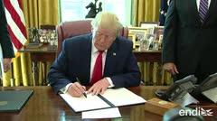 """Trump impone """"contundentes"""" sanciones económicas contra Irán"""