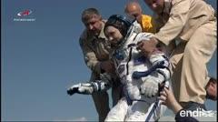 Tres astronautas regresan a la Tierra tras seis meses de misión espacial