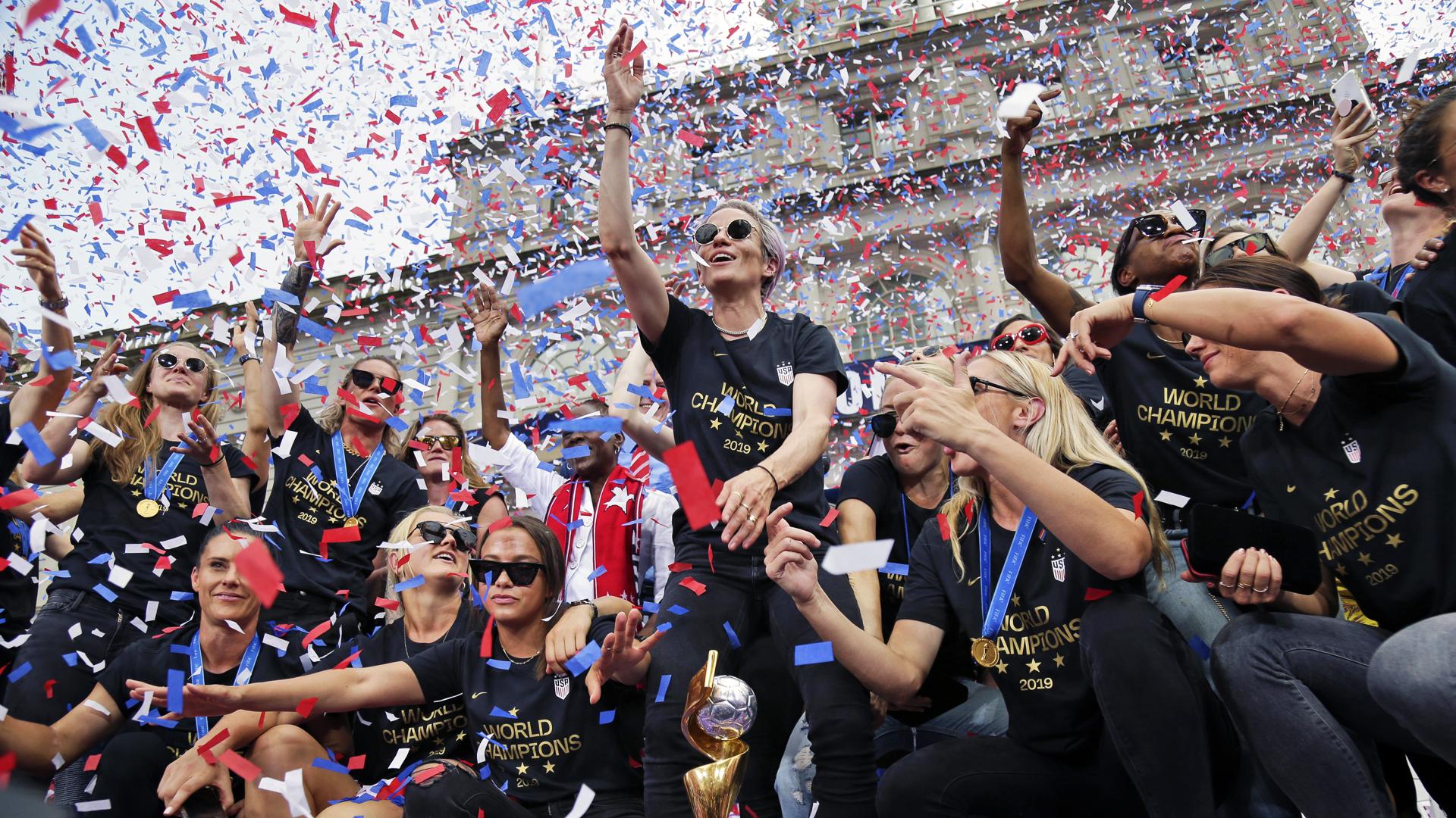 El poderoso mensaje de las campeonas de la Copa Mundial Femenina de Fútbol