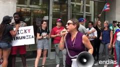 """Puertorriqueños en Washington: """"¡Rosselló tiene que renunciar!"""""""
