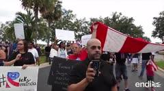 Protesta boricua en Orlando pidiendo la renuncia de Rosselló