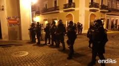 Enfrentados policías y manifestantes hasta altas horas de la madrugada