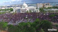 Impresionante vista aérea de los boricuas que marcharon para expulsar al gobernador