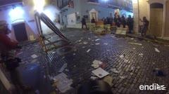 Grabamos con una GoPro los choques explosivos del Viejo San Juan