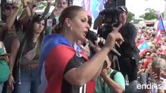 Olga Tañón enciende su fuego por la renuncia de Ricardo Rosselló