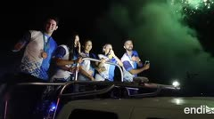 El pueblo de Utuado recibió por todo lo alto al equipo de tenis de mesa